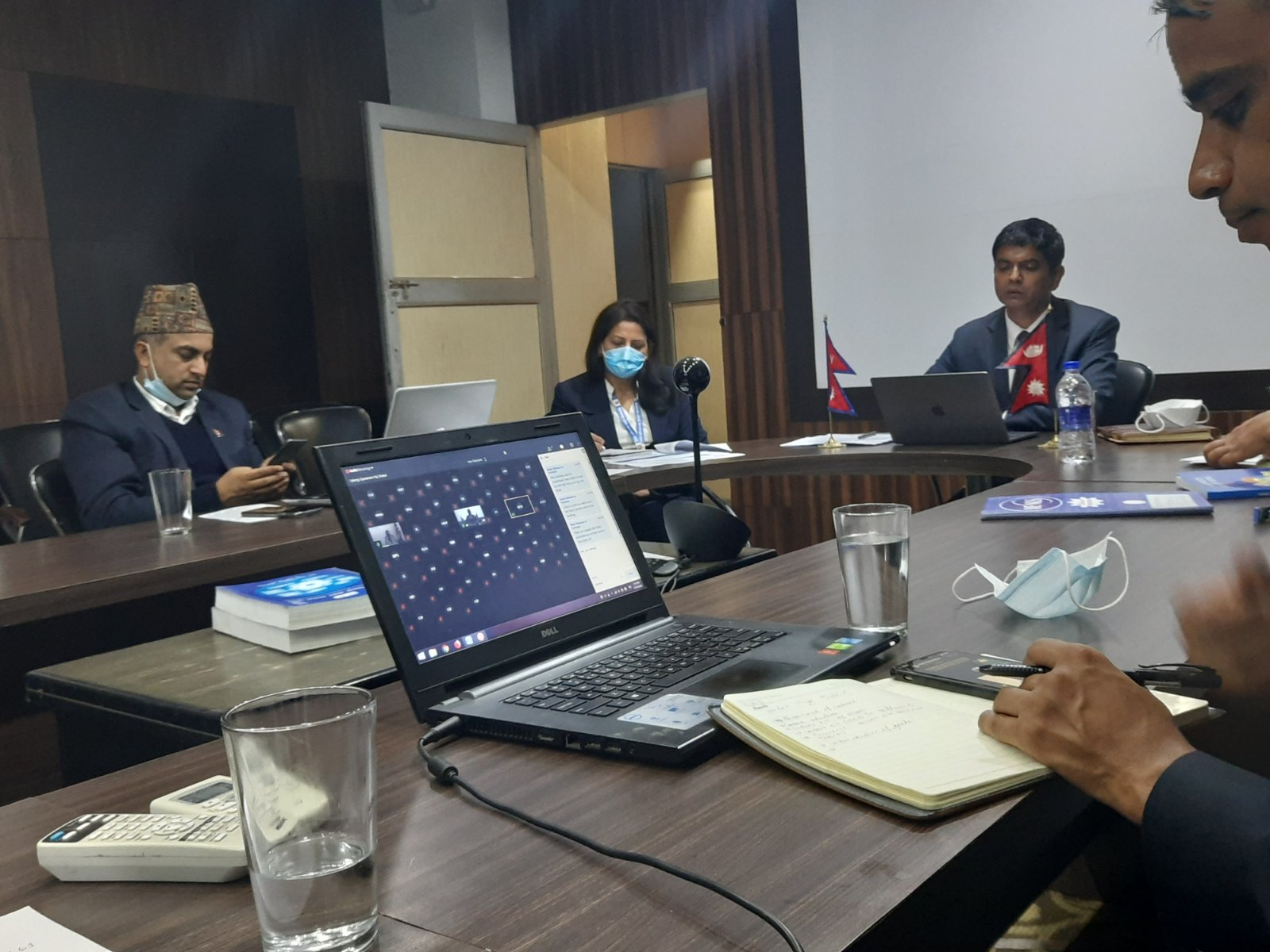 Joint secretary Mr. Prakash Dahal and his team participated in an Intersessonal Meeting (Video Conference) held on November 10, 2020 for the preparation of TIFA Council Meeting between Nepal and  USA.